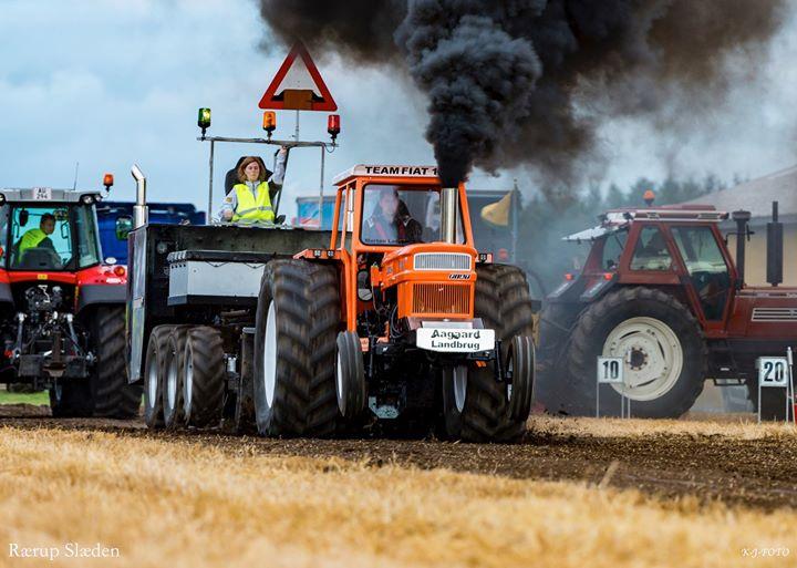 Traktortræk ude i Rærup